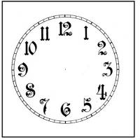 """Paper Dials - Paper Dials - Without Trademarks - Timesaver - 4-1/2"""" Antique Arabic Plain White Dial"""