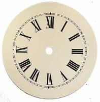 "Metal Dials - Round Aluminum & Heavy Metal Backed Dials - TT-12 - 6-1/2"" Round Metal Roman Dial-5"" TT"