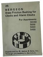 Bergeon Bushings - Swiss Made Brass Bergeon Bushings 25-Packs  Closeout - B-60 Brass Bergeon Bushing  25-Piece Pack