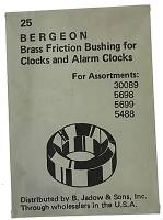 Bergeon Bushings - Swiss Made Brass Bergeon Bushings 25-Packs  Closeout - B-33 Brass Bergeon Bushing  25-Piece Pack