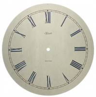 "Metal Dials - Round Aluminum & Heavy Metal Backed Dials - Hermle Speckled 12-5/8"" Dial With 10-3/4"" Time Track"