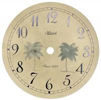 "Clock Repair & Replacement Parts - Dials & Related - Hermle Quartz Arabic Palm Tree 4-11/16"" Dial"