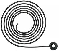 """Clock Repair & Replacement Parts - Gongs, Gong Bases, Gong Hardware - HERMLE 3-3/8"""" (85MM) WIRE COIL GONG"""