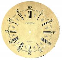"Metal Dials - Round Aluminum & Heavy Metal Backed Dials - Hermle Speckled 12-5/8"" Dial With 9-7/16"" Time Track"