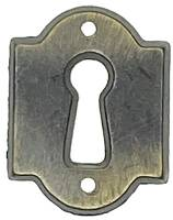 Doors & Parts (Locks, Keys, Latches, Etc.) - Key Hole Escutcheons - Hermle Distressed Black & Gold Key Plate