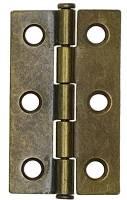 """Clock Repair & Replacement Parts - Case Parts - 2-5/8"""" L X 1-7/16"""" W Antiqued Door Hinge"""