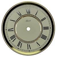 "Clock Repair & Replacement Parts - Hermle 6"" Ivory Roman Quartz Regulator Dial"