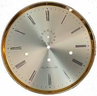 "Clock Repair & Replacement Parts - Hermle 305mm (12"") Brushed Silver Roman Dial/Bezel Combo"
