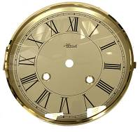 "Clock Repair & Replacement Parts - Hermle 5-3/4"" Roman Ivory Dial, Bezel, Glass Assembly"