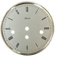 "Clock Repair & Replacement Parts - Hermle 6"" White Roman Dial & Silver Bezel Combo"