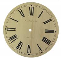 "Metal Dials - Round Aluminum & Heavy Metal Backed Dials - 8-5/8"" (220mm) Ivory Roman Dial for Hermle #70732"
