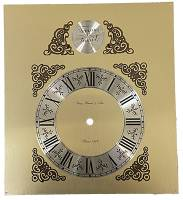 Clock Repair & Replacement Parts - Hermle Tempus Fugit Brushed Brass Roman Dial