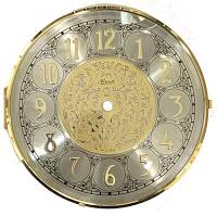 "Clock Repair & Replacement Parts - Hermle 7"" Fancy Arabic Dial, Bezel, Convex Glass Assembly"