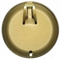 """Hermle 3-1/8"""" (80mm) Antiqued Brushed Brass Pendulum Bob - Image 2"""