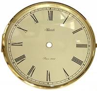 "Clock Repair & Replacement Parts - Dials & Related - HERMLE 7"" IVORY ROMAN DIAL, BEZEL, CONVEX GLASS ASSEMBLY"