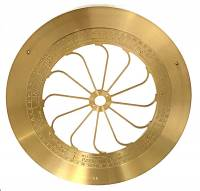 Movements, Motors, Rotors, Fit-Ups & Related - Mechanical Movements & Related Components - Hermle Non-Zodiac Sign Brass Plate