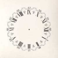 "Dials & Related - Porc-A-Dials - 5-1/4"" Fleur-de-Lys High Gloss Paper Dial"
