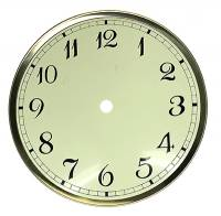 """6-1/2"""" Stylized Ivory Arabic Dial/Pan Combo w/-3/4"""" Time Track"""