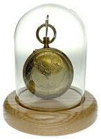 """Glass Watch Display Dome With Oak Base 3"""" X 4"""""""