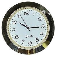 """45mm (1-11/64"""") Arabic Clock Insert with White Dial"""