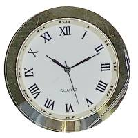 """45mm (1-11/64"""") Roman Clock Insert with White Dial"""