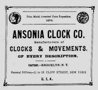 Clock Repair & Replacement Parts - Manufacturers Labels - BEDCO-29 - Ansonia Clock Company Label