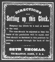 Clock Repair & Replacement Parts - Manufacturers Labels - BEDCO-29 - Seth Thomas Clock Company Label