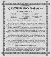 BEDCO-29 - Waterbury Clock Company Label
