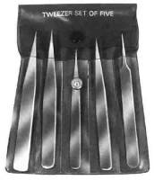 Tweezers - Tweezers-Sets - CAMB-80 - 5-Piece All Purpose Tweezers Set