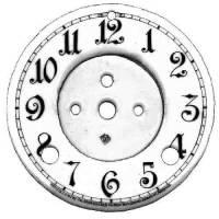 """CHINA-12 - 4-3/4"""" Porcelain Arabic 2-Pc. Arabic Dial"""