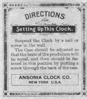 Clock Repair & Replacement Parts - Manufacturers Labels - BEDCO-29 - Ansonia Clock Company Clock Label