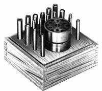 Clockmakers & Watchmakers Specialty Tools & Equipment - Punch & Stake Sets - CAMBR-74 - Clock Punch & Staking 16-Piece Set
