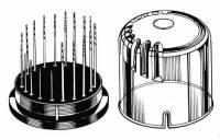 """Drills, Drill Bits & Sets - Drill Bit Sets - GROBET-613 - 20-Piece Premium Twist Drill  .0135"""" - .039"""""""