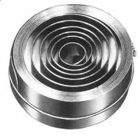 "Mainsprings, Arbors & Barrels - Hermle, Urgos & Other German Mainsprings, Barrels & Arbors - HERMLE-20 - .669"" x .0177"" x 58.7"" Hole End Mainspring For #10 Hermle Barrel"