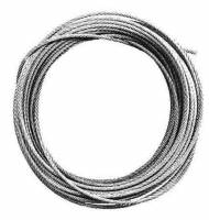 "Cable, Cord & Rope for Weights, Cable Guards, Gut & Related - Clock Cable, Cable Fittings & Cable Guards - JERSEY-7 - 1/16"" Stainless Steel Cable x 11 Foot Roll"