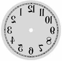 "Metal Dials - Round Aluminum & Heavy Metal Backed Dials - PRIMEX-12 - 6-1/2"" Diameter Backwards Arabic Dial"