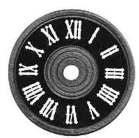 "Dials & Related - Wood Dials - SCHWAB-12 - Cuckoo Clock Dial 3-1/8"" Diameter"