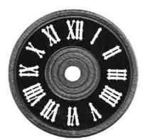 "SCHWAB-12 - Cuckoo Clock Dial 3-1/8"" Diameter"