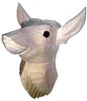 "SCHWAB-14 - 2-1/2"" Wood Deer Head"