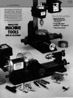 Lathes, Mills, Parts & Related - Lathe & Mill Accessories - SHER-41 - Sherline Tools & Accessory Catalog(#5325)
