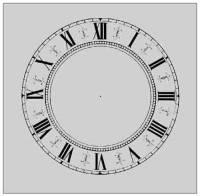 "Paper Dials - Fancy Paper Dials - SHIPLEY-12 - 4-1/4"" White Fancy Dial"