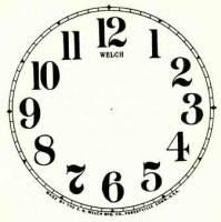 "SHIPLEY-12 - 4-1/2"" Ingraham Arabic Ivory Dial"