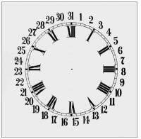 "Paper Dials - Paper Calendar Dials - SHIPLEY-12 - 9"" Calendar Plain Ivory Dial"