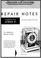 Books - Atmos Books - TS-87 - Atmos Repair Guide & Parts List