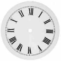 """TT-12 - 7-1/2"""" Metal Banjo Roman Clock Dial"""