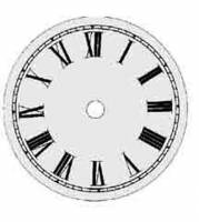 "Metal Dials - Round Aluminum & Heavy Metal Backed Dials - TT-12 - 7-1/2"" Round Metal Roman Dial 5-1/2"" TT"