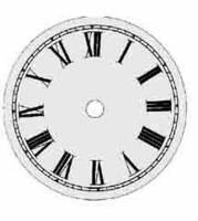 "Metal Dials - Round Aluminum & Heavy Metal Backed Dials - TT-12 - 7"" Round Metal Roman Dial 5-1/2"" TT"