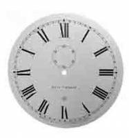 "Metal Dials - #2 Regulator & School Clock Dials - TT-12 - 12-3/8"" Silkscreened Steel Dial-Roman"