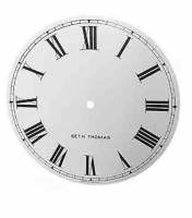 "Metal Dials - #2 Regulator & School Clock Dials - TT-12 - 11-5/8"" Silkscreened Steel Dial-Roman"