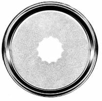 "Bezels, Bezels with Glass, Dial Pans & Hinges, Tab - Dial Pans - TT-13 - 6-3/8"" Scalloped Dial Pan"